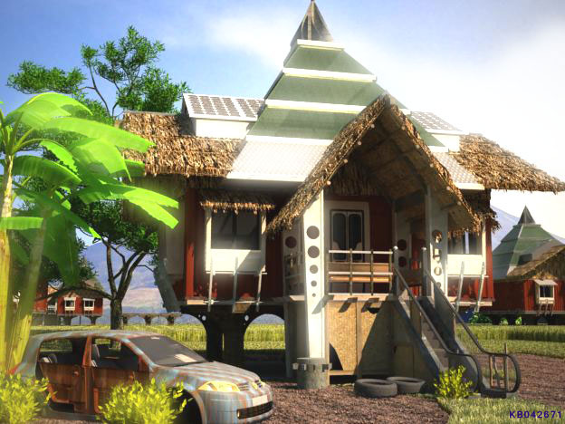 Futuristic bahay kubo architecture research center of for Home design ideas native