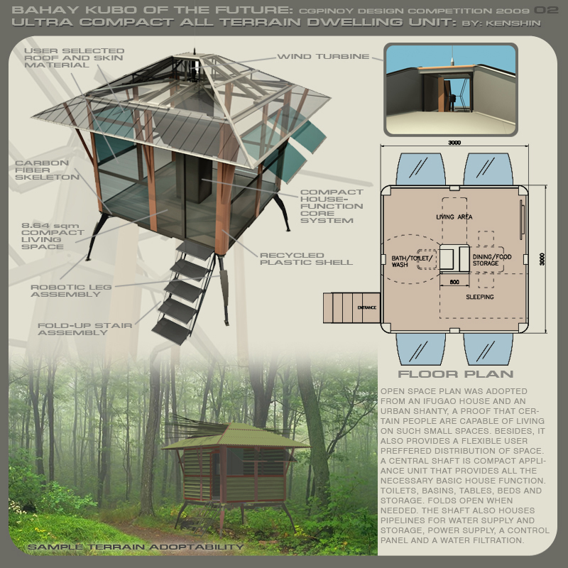 Futuristic bahay kubo architecture research center of the philippines arc - House design and plans in the philippines ...